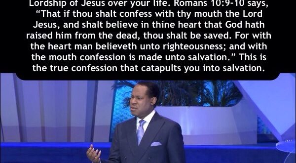 TRUE CONFESSION – PASTOR CHRIS