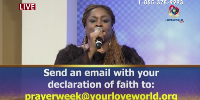 SPECIAL MINISTRATION – SINACH