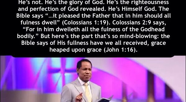 JUST LIKE JESUS… PASTOR CHRIS OYAKHILOME.