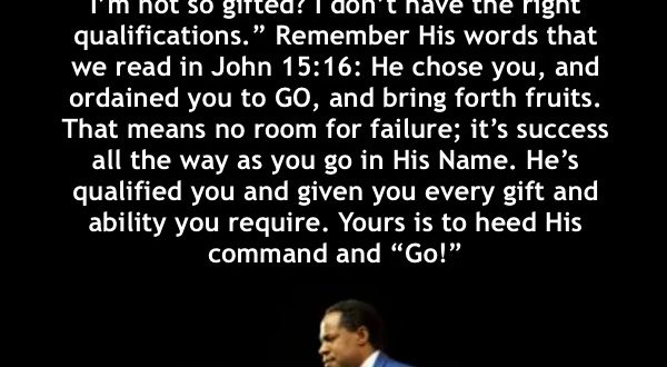 "THE GREAT ""GO"" – PASTOR CHRIS OYAKHILOME."