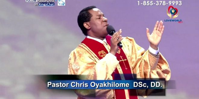 IT'S ABOUT WHAT YOU SAY – PASTOR CHRIS OYAKHILOME.